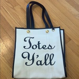 "Draper James ""Totes Y'all"" tote NWOT"